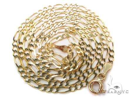 Mens 14k Solid Yellow Gold Figaro Chain 18 Inches 2.5mm 7.58 Grams 47359 Gold