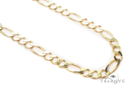 Mens 14k Solid Yellow Gold Figaro Chain 18 Inches 3mm 6.40 Grams 47366 Gold