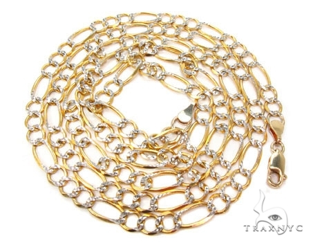 Mens 14k Solid Yellow Gold Figaro Chain 22 Inches 7.9mm 35.70 Grams 47352 Gold