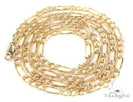 Mens 14k Solid Yellow Gold Figaro Chain 24 Inches 3.6mm 8.75 Grams 47343 Gold