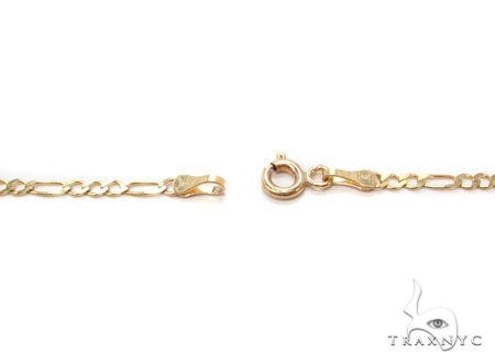Mens 14k Solid Yellow Gold Figaro Chain 24 Inches 3.6mm 9.93 Grams 47362 Gold