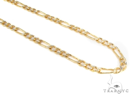 Mens 14k Solid Yellow Gold Figaro Chain 24 Inches 4.6mm 13.64 Grams 47348 Gold