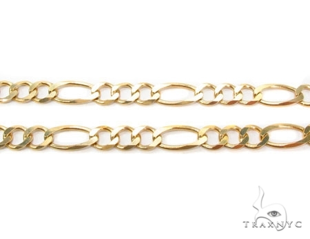 Mens 14k Solid Yellow Gold Figaro Chain 24 Inches 6.6mm 29.98 Grams 47368 Gold