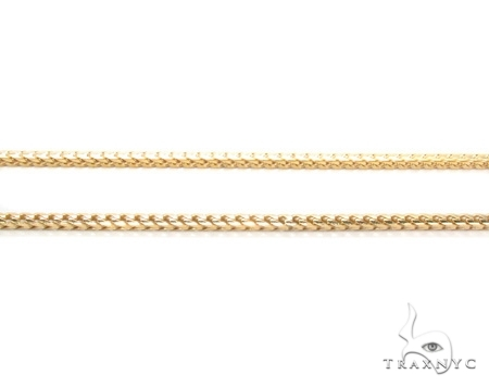 Mens 14k Solid Yellow Gold Franco Chain 22 Inches 2.5mm 21.00 Grams 47766 Gold