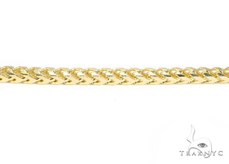 Mens 14k Solid Yellow Gold Franco Chain 26 Inches 3.5mm 36.93 Grams 47805 Gold
