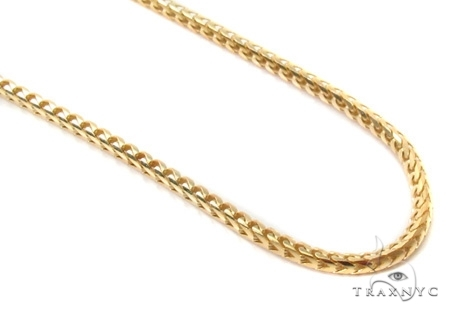 Mens 14k Solid Yellow Gold Franco Chain 28 Inches 1.7mm 13.69 Grams 47857 Gold