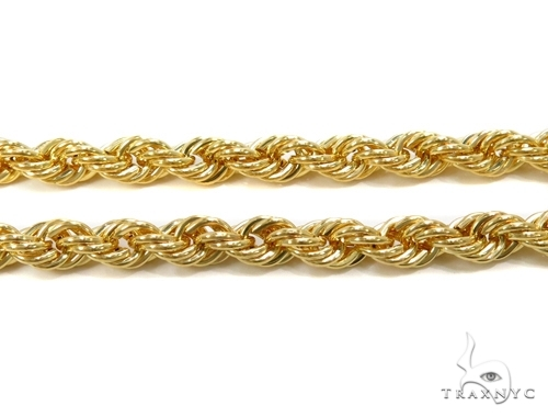 Mens 14k Solid Yellow Gold Rope Chain 26 Inches 4.5mm  48623 Gold