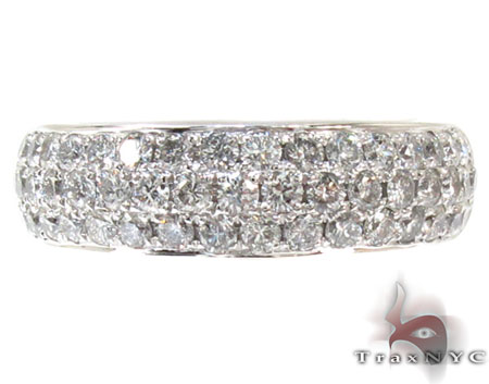 Mens 3 Row Pave Diamond Ring 20976 Stone