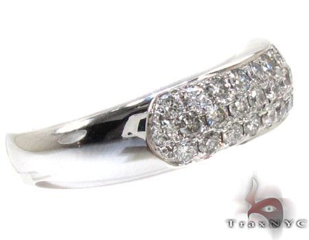 Mens 3 Row Pave Diamond Ring 20976 Stone