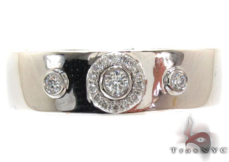 Mens Bezel Prong Diamond Ring 22061 Stone