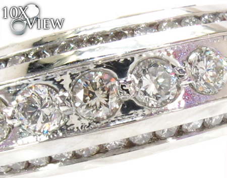 White Platinum Men Engagement Ring Stone