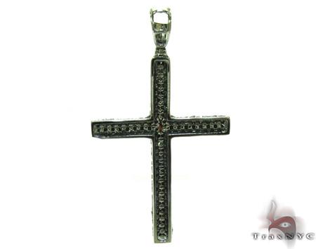 Mens Black Diamond Cross Crucifix 21175 Diamond