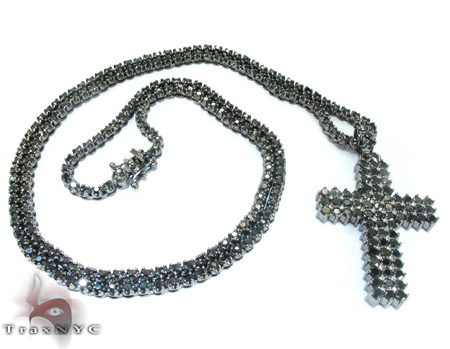 Mens Black Diamond Set 21883 Diamond