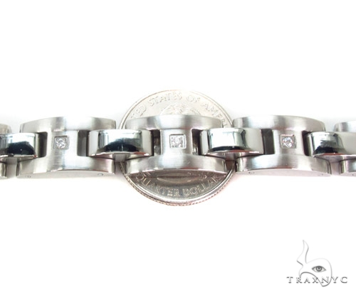Mens CZ Stainless Steel Bracelet Stainless Steel