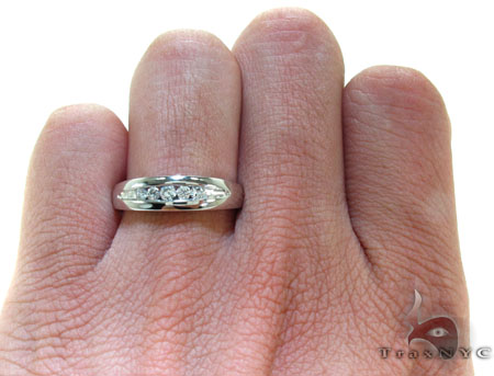Mens Channel Diamond Ring 22064 Stone