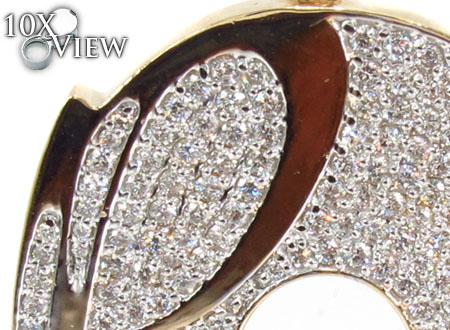 Mens Diamond Custom P Pendant 30990 Metal