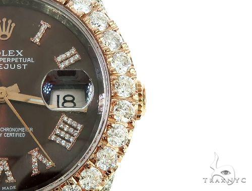 Mens Diamond DateJust 36mm Rolex Watch 65741 Diamond Rolex Watch Collection