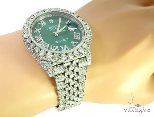 Mens Diamond DateJust 40mm Rolex Watch 65808 Diamond Rolex Watch Collection