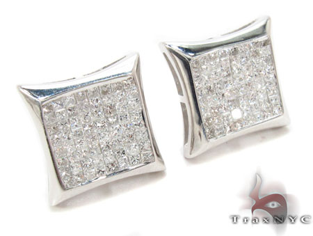 Mens Diamond Earrings 31396 Stone