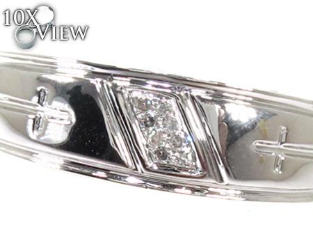 Cheap Mens Cross Crucifix Diamond Ring Stone