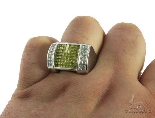 Mens Princess Cut Invisible Diamond Ring 63169 Stone