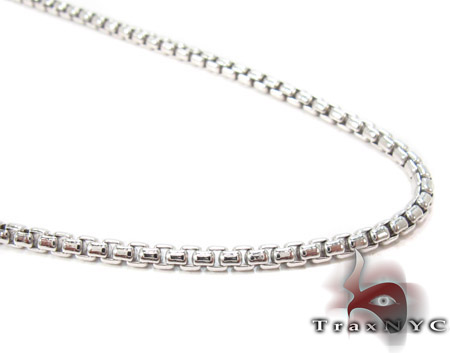 Mens Silver Chain 22 Inches 2mm 11.40 Grams Silver