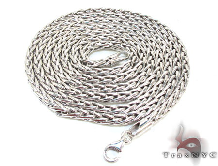 Mens Silver Chain 30 Inches 4mm 21.7 Grams Silver