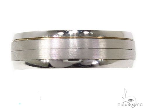 Mens Striped Wedding Band 64087 Style