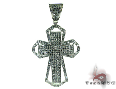 Mercy Dipped in Black Sterling Silver Cross Crucifix Silver