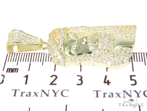 Jesus Silver CZ Pendant 40876 Metal
