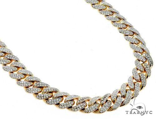 Miami Cuban 2-Row Diamond Link Chain 26.75 Inches 12mm 228.40 Grams Diamond