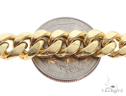Miami Cuban Chain Hollow 14K Yellow Gold 24 Inches 7.5mm 36.5 Grams 64813 Gold