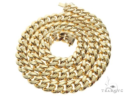 Miami Cuban Chain Hollow 14K Yellow Gold 26 Inches 13mm 123.0 Grams 64819 Gold