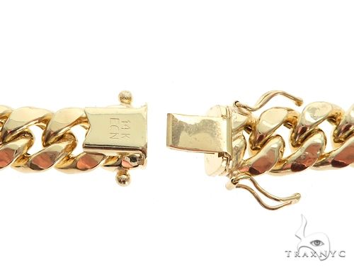 Miami Cuban Chain Hollow 14K Yellow Gold 26 Inches 6mm 65165 Gold