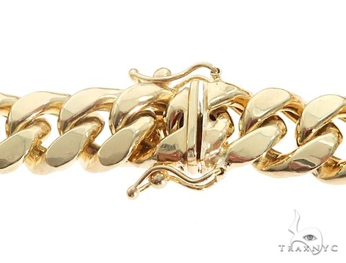 Miami Cuban Chain Hollow 14K Yellow Gold 26 Inches 9.3mm 65905 Gold