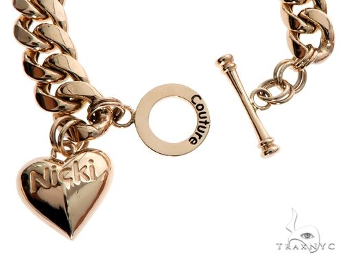 Miami Cuban Chain and Bracelet Set with Custom Locks and Heart Charms Gold