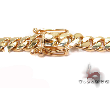 Miami Cuban Curb Link Chain 22 Inches 7mm 69.3 Grams Gold