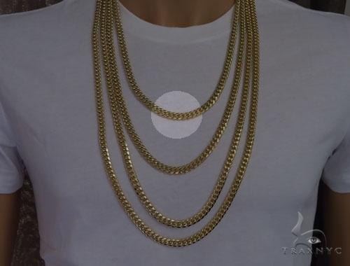 Miami Cuban Curb Link Chain 24 Inches 7mm 85.4 Grams Gold