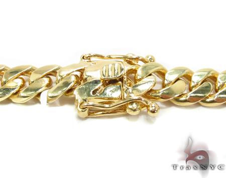 Miami Cuban Curb Link Chain 24 Inches 8mm 137.6Grams Gold