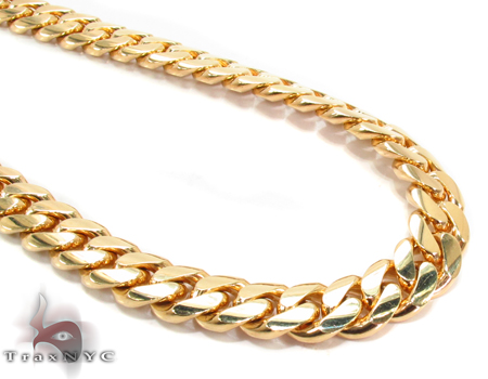 Miami Cuban Curb Link Chain 26 Inches 11mm 217.8 Grams Gold