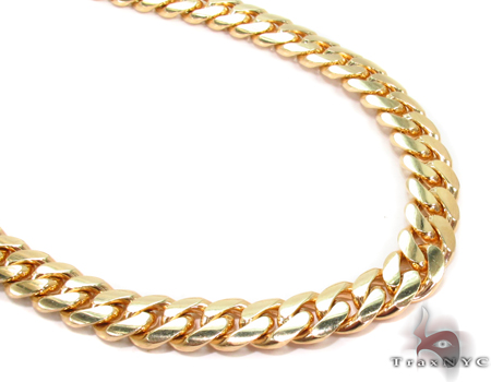 Miami Cuban Curb Link Chain 26 Inches 7mm 88 Grams Gold