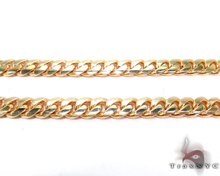 Miami Cuban Curb Link Chain 26 Inches 7mm 104 Grams Gold