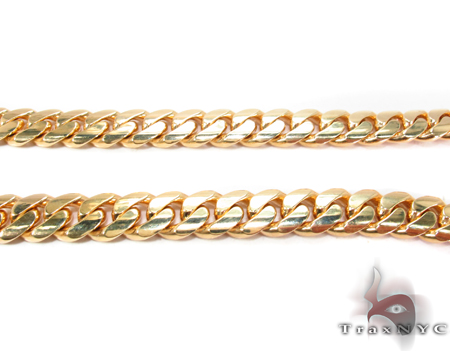 Miami Cuban Curb Link Chain 28 Inches 10mm 218.7 Grams Gold