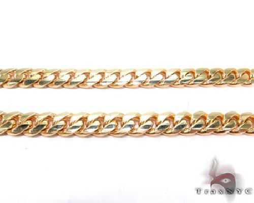 Miami Cuban Curb Link Chain 28 Inches 10mm 234.5 Grams 63938 Gold