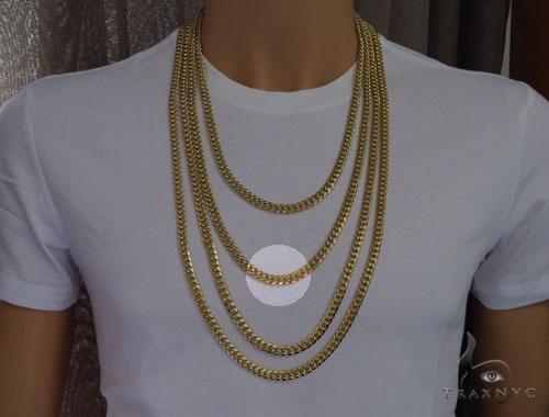 Miami Cuban Curb Link Chain 28 Inches 12mm 302.3 Grams Gold