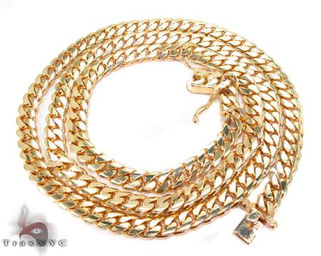 Miami Cuban Curb Link Chain 28 Inches 7mm 88.2 Grams Gold