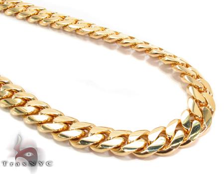Miami Cuban Curb Link Chain 28 Inches 9mm 162.40 Grams Gold