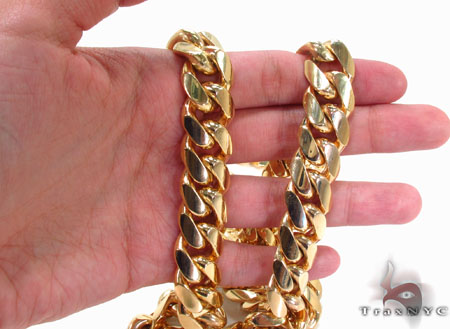 Miami Cuban Curb Link Chain 30 Inches 16mm 552.4 Grams Gold