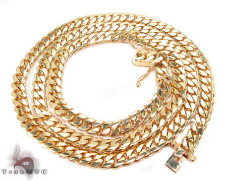 Miami Cuban Curb Link Chain 30 Inches 7mm 110.10 Grams Gold