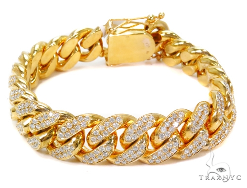 Miami Cuban Diamond Bracelet 40711 Diamond